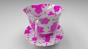3D teacup tea