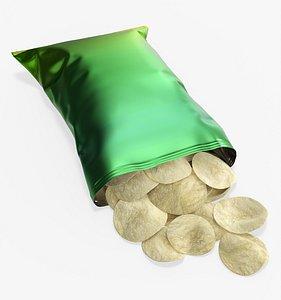 mockup folds potato model