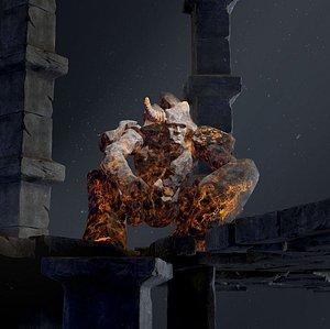 Elemental Golems 3D model