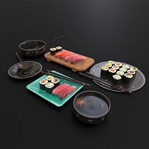 sushi food 3D
