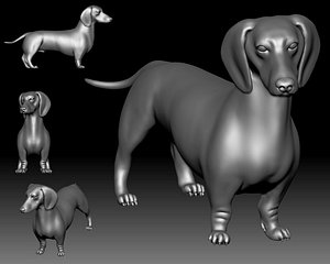 dutch hound printable 3D