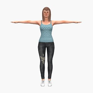 usa female 3D model