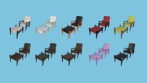 Armchair Collection - Furniture Interior Design model