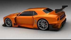 gt3-imsa race car interior 3D model