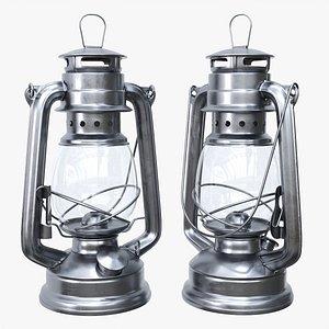 Old metal kerosene lamp 03 3D model