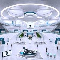 Futuristic E-Congress Lobby - 6