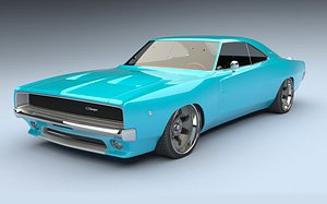 musclecar hotrod 3D model