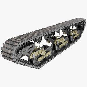 Light Tank Track 3D model