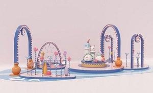 Meichen DP point creative web celebrity punch card mall commercial meichen interactive meichen 3D