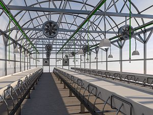 greenhouse house 3D
