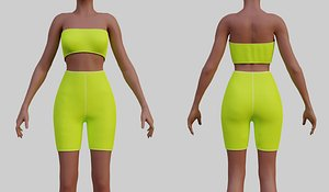fashion clothing pants 3D