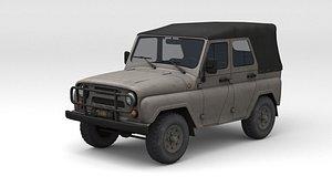 3D UAZ 469 off-road