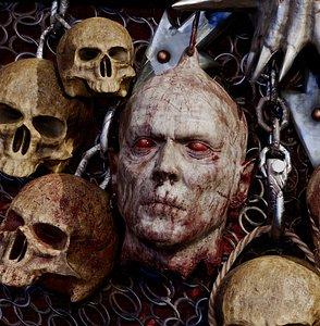 zombie dead head 3D