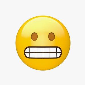 3D Apple Grimacing Face model