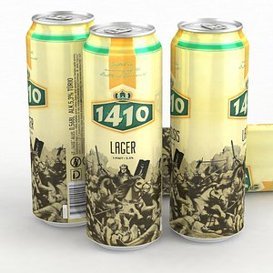 Beer Can 1410 Lager 568ml Pint 2021 3D model