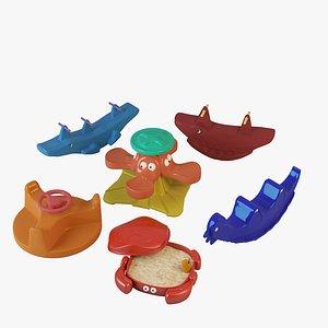 3D Plastic Toys Set