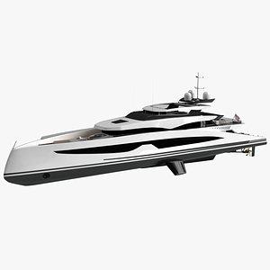 3D model Ava Luxury Yacht Dynamic  Simulation