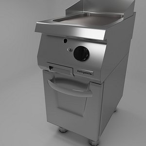 Commercial Kitchen 700 Series Grill Gas  Griddle 3D Model 3D model