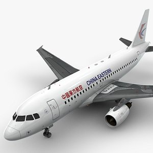 3D AirbusA319-100CHINA Eastern AirlinesL1415 model