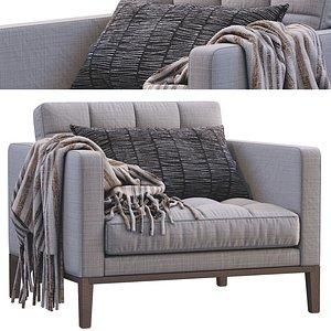 3D Ac Lounge Armchair From Bebitalia