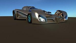3D model rally race car