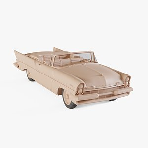 3D 1957 Lincoln Premiere convertible