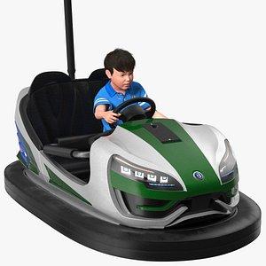3D Bertazzon Bumper Car Adult New York with Boy Rigged model