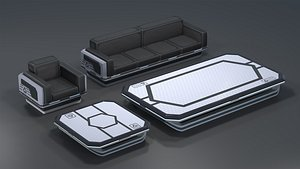3D Sci-fi Furniture Pack Coffee model