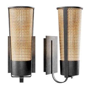 3D wall lamp rattan model