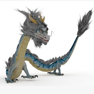 Chinese Dragon Rigged and Animated 3D model