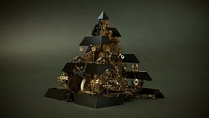 High End Quality Surreal Pyramid Model 3D