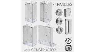 3D glass shower cabins designer model