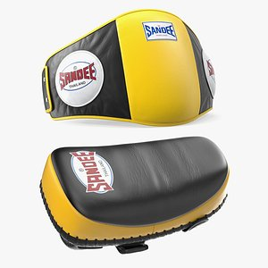 sandee protective yellow pads 3D model