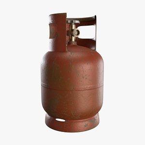 Gas Cylinder Rusty 3D model