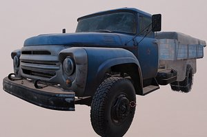 3D zil 130 truck 1964 model