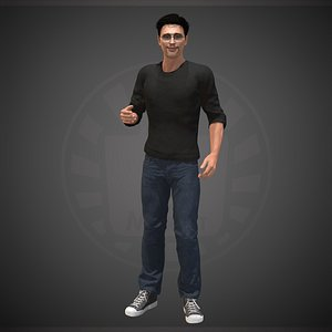 3D character people human model