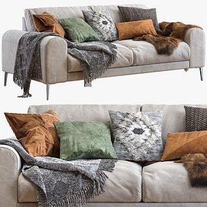 Joy sofa 200 cm 3D model