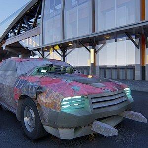 death race car 3D model