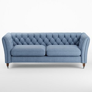 Chatsworth Button Back By Laura Ashley Large Sofa 3D model