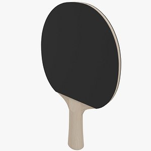 Ping Pong Paddle Black And Red 3D model