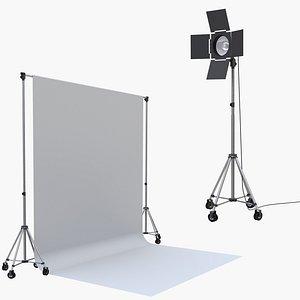 studio backdrop light 3D