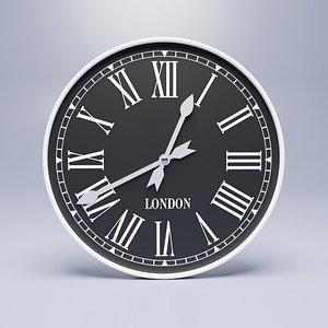 Wall clock London 3D