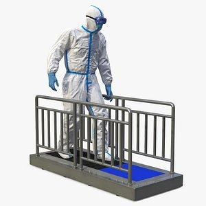 disposable protective suit sole 3D model