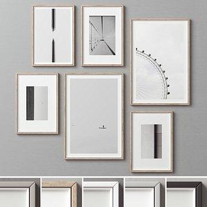 frame picture set 3D model