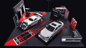 3D model AMG GT Black Series Mercedes A35L Auto Show AMG GT Black Series Mercedes A35L
