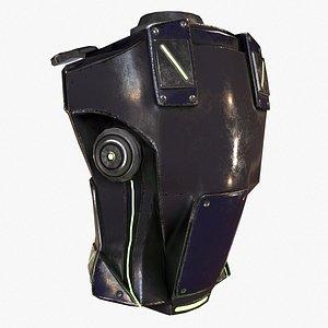 3D backpack canister case military model