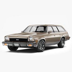 3D Chevrolet Chevelle SS Wagon 1973 model