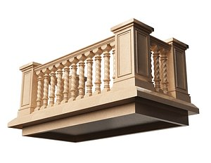 Balcony 01 3D model