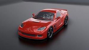 3D model corvette car 3d model