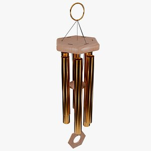 3D model Wind Chimes Lowpoly Gameready